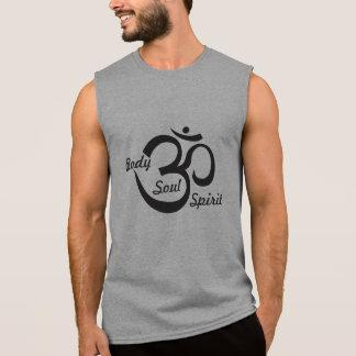 T-shirt Sans Manches Chemise sans manche de yoga - corps, âme et esprit