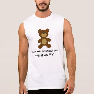 T-shirt Sans Manches Traction subite à mon ours gai de fourrure