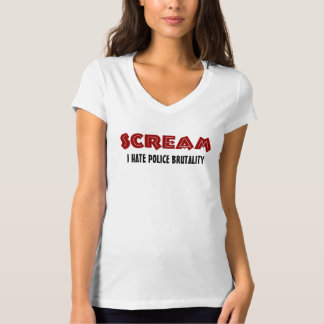 T-Shirt Scream I Hate Police Brutality