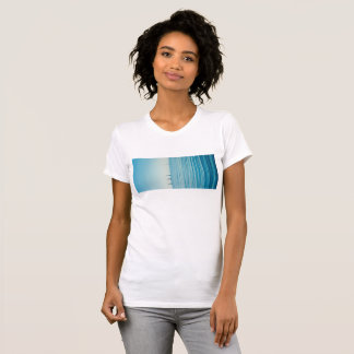 T-shirt sea landscape blue ocean island