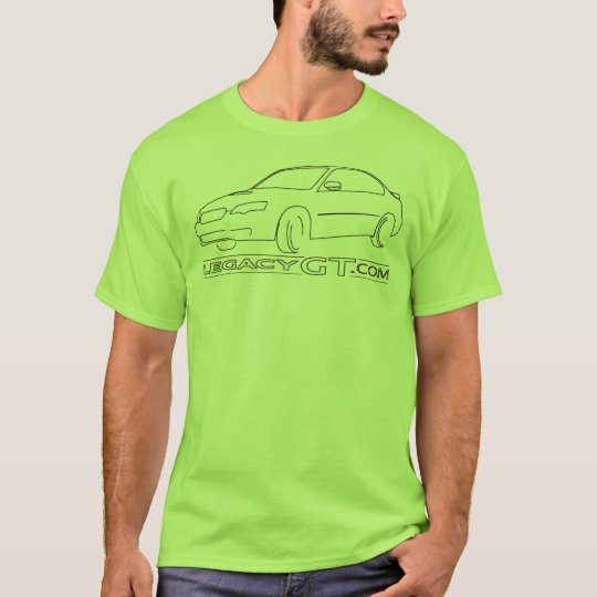 T-Shirt: Sedan Outline T-Shirt