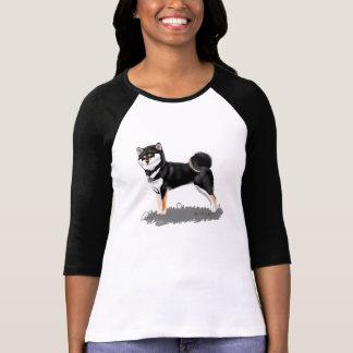 T-shirt shiba inu black&tan