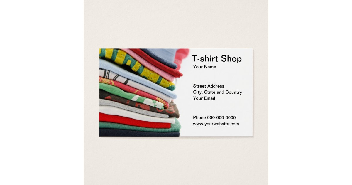 T shirt shop business card for Business cards for t shirt business
