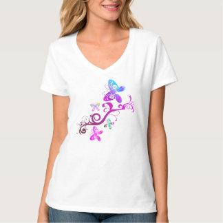 T-shirt short-poor with V-cutout