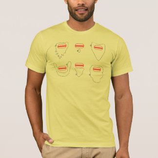 T-shirt Singe barbu