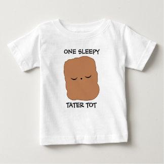 T-shirt somnolent de doigt de tater