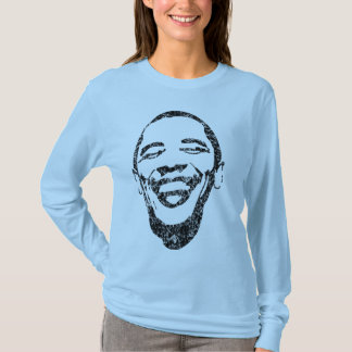T-shirt Sourire infectieux Obama long Sleave T