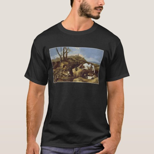 T-Shirt: Spaniels Stalking Rabbits in the Dunes T-Shirt