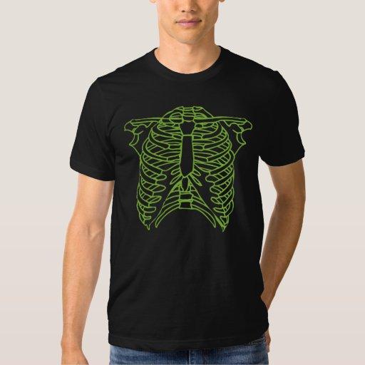 T-shirt squelettique vert