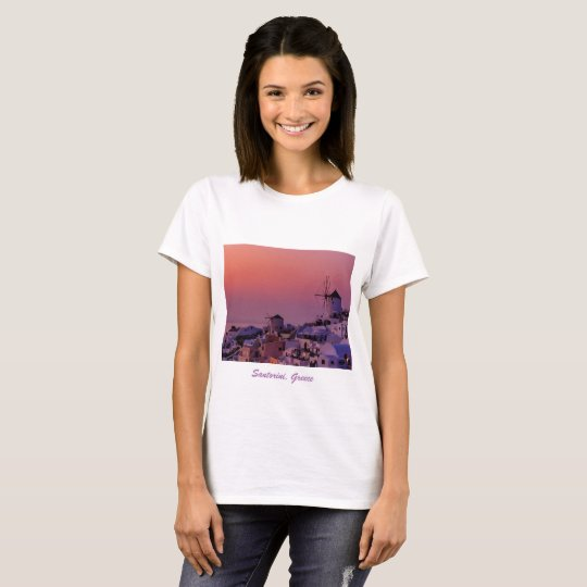 T-Shirt - Sunset over Santorini, Greece