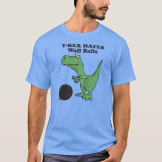 T-shirt T-rex déteste la boule de mur