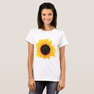 T-shirt T-shirt, T-shirt, fleur simple de tournesol