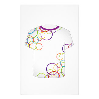 T Shirt Template-fractal rings Customized Stationery