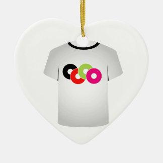T Shirt Template- Music CDs Ceramic Heart Ornament