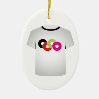 T Shirt Template- Music CDs Christmas Ornaments