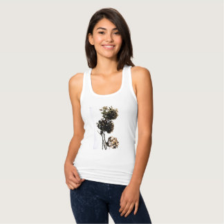 "t.shirt ""the beautiful flower "" tank top"