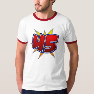 T-Shirt The Number 45 Red with Yellow Burst