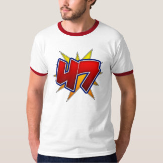 T-Shirt The Number 47 Red with Yellow Burst