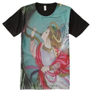 T-shirt Tout Imprimé Ange de Noël - art de Noël - décorations d'ange