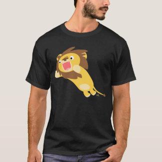 T-shirt très affamé de lion de bande dessinée