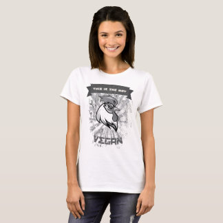 T-shirt Vegan Rooster