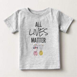 T-shirt Vegana - All LIVES to matter