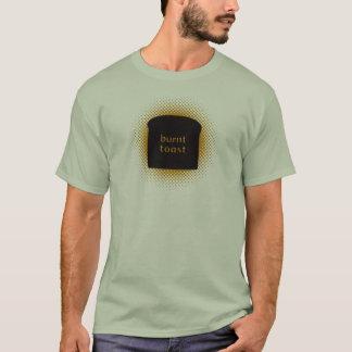T-shirt vert en pierre de base brûlé de pain