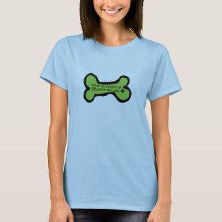 T-shirt Vert idiot de chien