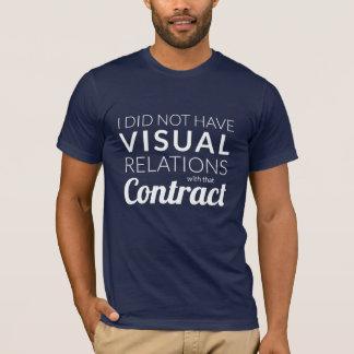 T-shirt visuel de relations