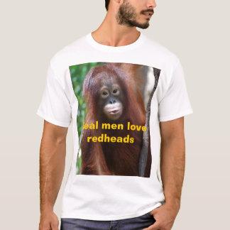 T-shirt Vrais roux d'amour d'hommes