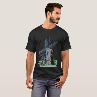 T-Shirt - Watercolored Windmill