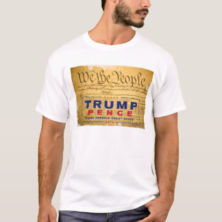 "T-shirt; ""We The People"" Constitution Trump-Pence T-Shirt"