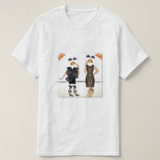 T-Shirt with abstract dancing ladies