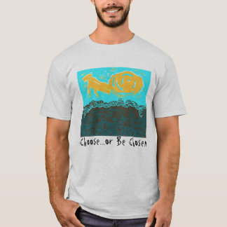 T-shirt with abstract design and question