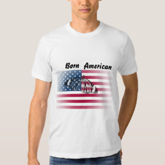 T shirt with american flag and butterfly