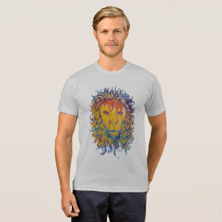 T-shirt with artistic illustration of a lion