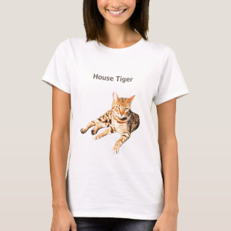 """t shirt with """" bengal cat""""  for pet lovers"""