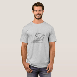 T-shirt with Black Vintage Typewriter Sketch