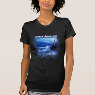 T-shirt with Boston lighthouse night scene.