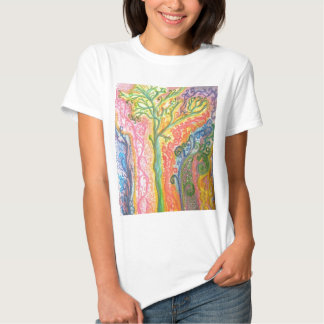 T-shirt with Colourful Psychedelic Tree Design