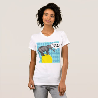 """T-shirt with elephant and text """"Think Big! """""""