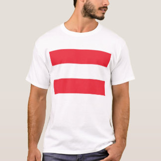 T Shirt with Flag of Austria
