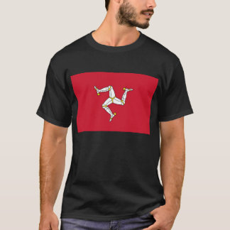 T Shirt with Flag of Isle of Man