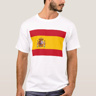 T Shirt with Flag of Spain