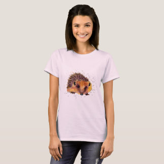 t-shirt with handpainted hedgehog