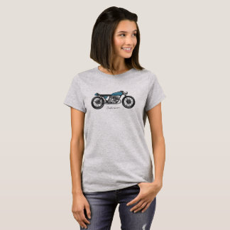 T-shirt with image bar racecar driver in blue