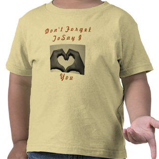t-shirt with love hands on it