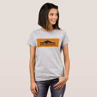 T-shirt with orange logo