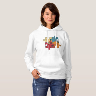 T-shirt with part of puzzle