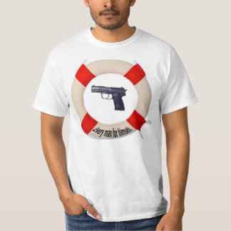 T-shirt with pistol and life buoy